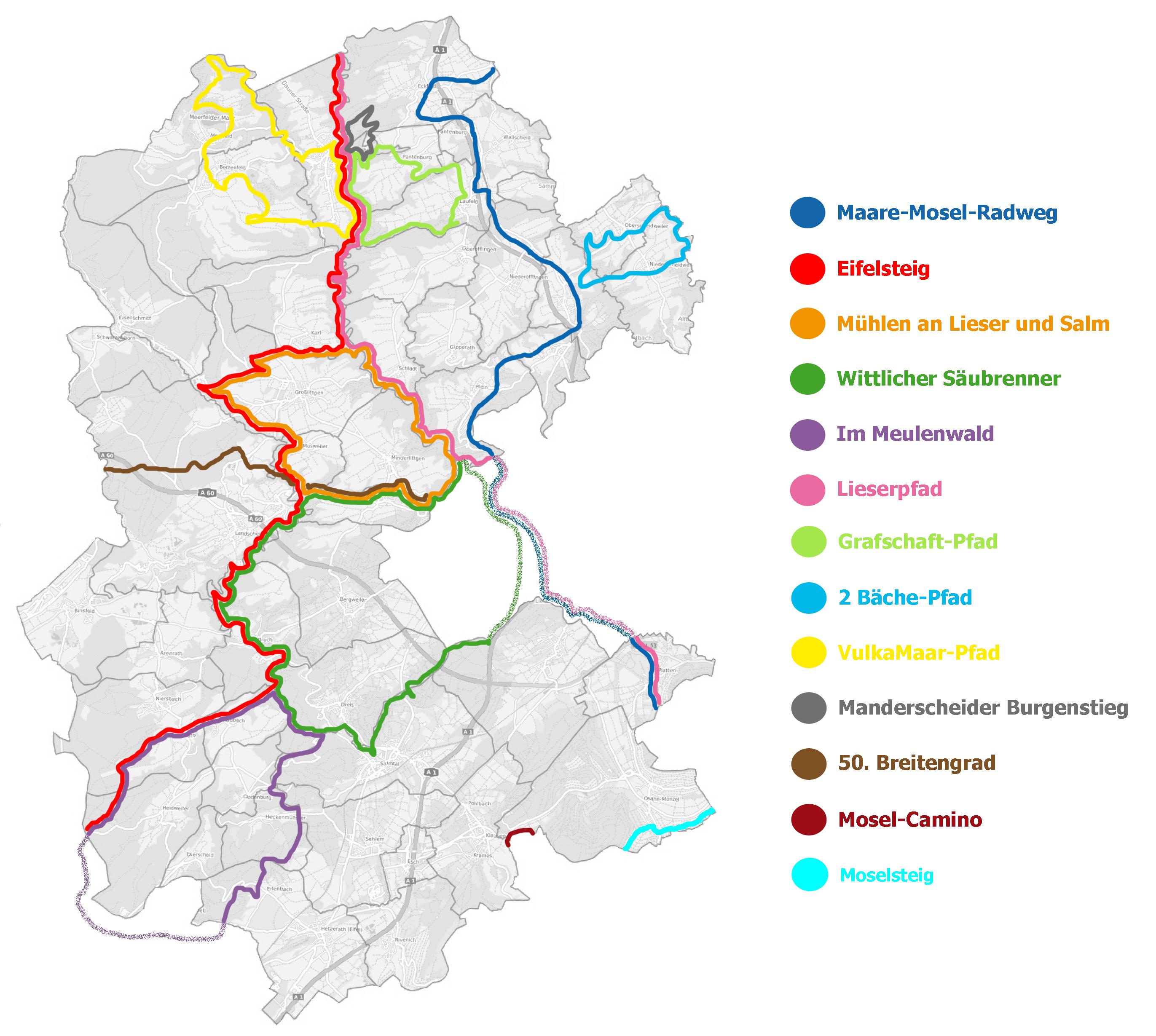 Mosel Radweg Karte Pdf.Rad Und Wanderwege Verbandsgemeinde Wittlich Land